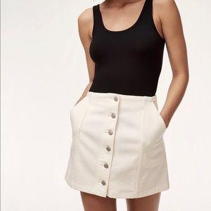 Aritzia Wilfred Free Ahrens Skirt -White Size 2